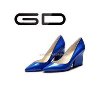 High heel dress shoes wholesale shoes lady fashion candy color heels 8cm pointy toe custom heel pumps