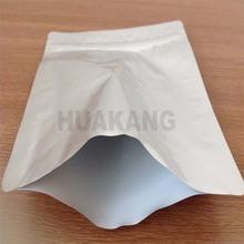 custom printed foil silver zip lock aluminium foil bag