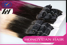 Hot selling Hair wholesale hongyuan hair fusion extension ombre color hair extensions