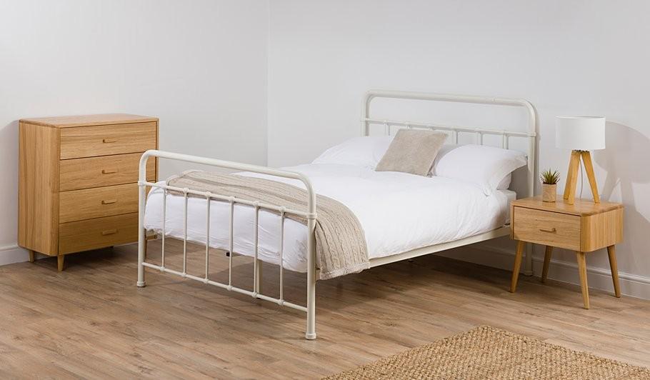 Brynley 더블 침대 프레임 이탈리아어 가구 침대 프레임-금속 침대 ...
