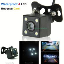 4pcs LR LED waterproof night vision how to install rear view camera on car