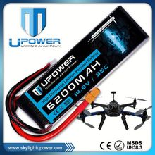 Upower 1500mah lipo battery for rc car lipo battery with MSDS UN38.3