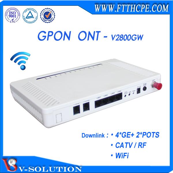 1 Ethernet Port Simple GPON ont ONU avec ZTE Chipset Route Fonction