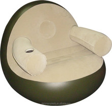 Fashionable and comfortable inflatable single pvc sofa