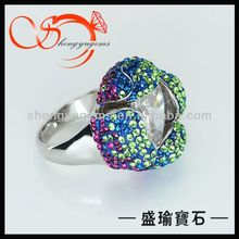 flower shape imitation diamond ring(WR13122524 )
