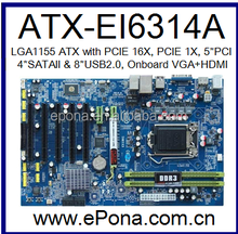 Intel LGA1155 I3, I5, I7 supported ATX motherboard based on Intel H61 for Industrial Control