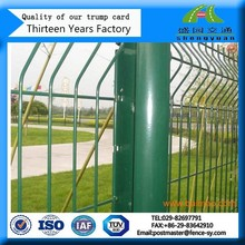 Welded Wire Mesh Black Metal Garden Fence Panels