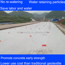 Road construction material cement concrete wet curing material