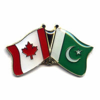 Factory directly supply custom metal Canada and Pakistan flag pin