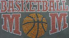 Korean Rhinestone Heat Transfers Wild About Basketball Design