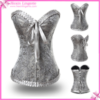 Charming Super Grade Galaxy White Corset With Buckle Thermal Corset