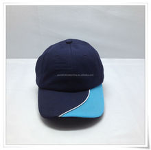 custom polo cotton baseball cap/hat with silver stamping/screen printing/woven embroidery