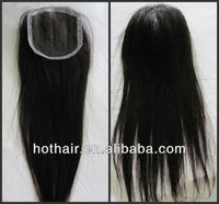 4x4inch 14inch straight hair lace closure natural color large stock