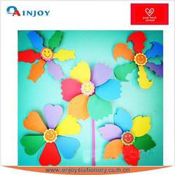 handmaking 3d six-color windmill