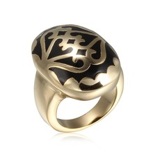 2015 latest gold finger ring designs masonic championship ring IP gold steel&enamel ring design