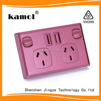 SAA approved electrical power ponit switch socket 5V 2A manufacturer of usb wall switch and sockets
