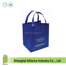 SGS Recycled PP Non Woven Shopping Bag With Green Printing,Factory Cheap Price Non Woven Shopping Tote Bag