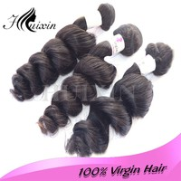 Huixin 2015 New Stock Hair Products Malaysian Virgin Hair Unprocessed Hair Weave Loose Wave