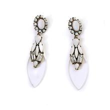 2015 fashion earrings lucency tear drop shaped acrylic pendant earrings for latest fashion trend