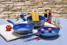 Wholesale aluminum forged marble/stone cookware set for cooking in kitchen,non-toxic and smoke-free