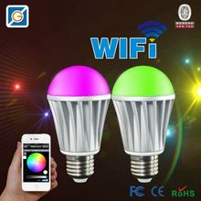WiFi air freshener negative ion activate oxygen led bulb 9w pure white play by SmartPhone