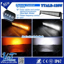 cheap aluminum housing 120W straight led Emergency Warning colorful changing 6 flash pattern light bars