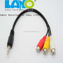 high quality 2.5mm to rca jack male viedo cable