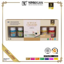 Hot Sell Non-toxic 12 Color Art Acrylic Colour Paint Set For Kids