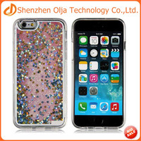 3D liquid transparent clear crystal hard case for iphone 6s