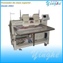 Máquina de bordar Yinghe de 9 agujas dos cabezas