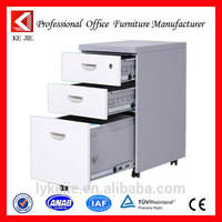Under-desk mobile and immobile pedestal mobile cabinet with 3 drawers factory direct sale mobile rotating display stand