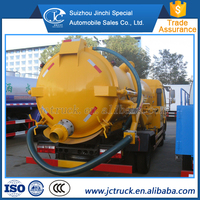 New conditiona nd 4Stroke Diesel Engine 6 metric tons sewage tank truck fot hot sale