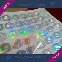 Polygon hologram adhesive label