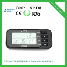 New design 3d g-sensor multi-functional 6 tracking mode 14 day memory pedometer calorie counter equipment