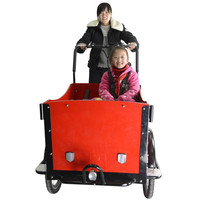 CE worthy bakfiets pedal assisted 3 wheel cargo passenger tricycle/three wheel bike