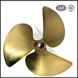 China manufacturer precision bronze 3 blade ship propeller for sale