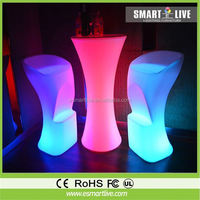 Leds light cocktail bar table table for events/party atmosphere lamp/glow nightclub furniture table