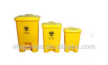 Medical sharp box yellow garbage bin for hospital