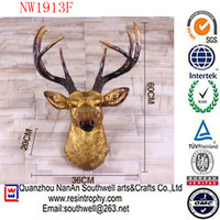 wholesale home decoration Folk Art Style and Resin Material resin antlers