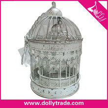 Outdoor small round style wire hanging bird cages