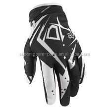 China Cool black white Dirt pit bike fox motorcycle racing gloves