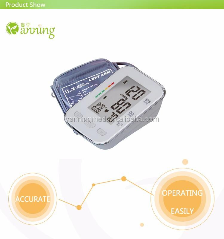 Multifunctional talking digital bp monitor,talk mode blood pressure machine,ce rechargeable digital blood pressure monitor