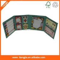 Sticky notes combined with sticker, Provide custom logo sticky paper