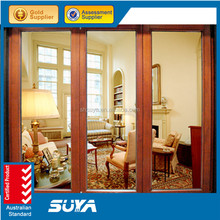 Beautiful life triple glazed aluminium clading wood folding window