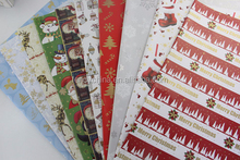 Brand New 2015 Fashion Design 70cmx50cm Gift Flower Wrapping Paper For Christmas Party