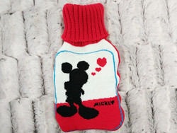 2000ml BS 1970:2012 Red Knitted Hot Water Bottle Cover