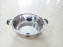 Tamaño grande de acero inoxidable juego de ollas de sopa olla