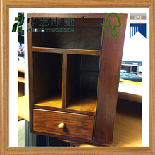 FSC natural wood shool office use file rack file cabinet stand