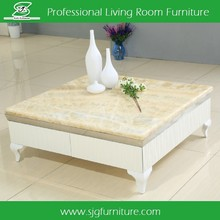 2015 Square Marble top coffee Table for wholesale