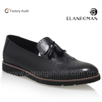 Genuine Cow leather business slip-on men loafer tassel shoes fashion men casual shoes made in China